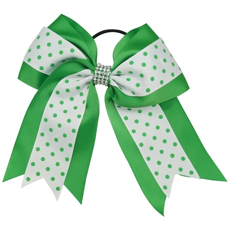 Spirit Hair Tie - Green/White