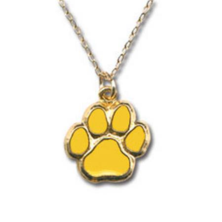 Gold Paw Prints Necklace