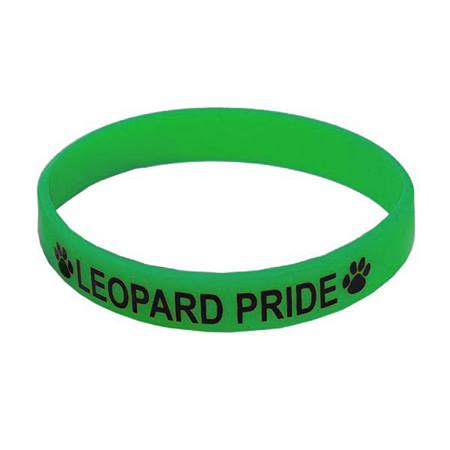 Green Screen Printed Silicone Wristband