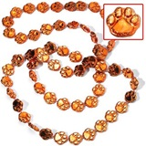 "Orange 33"" Paw Spirit Beads"