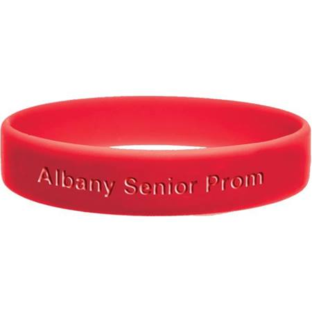 Red Engraved Silicone Wristband