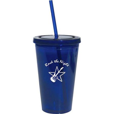 Royal Blue 16 oz. Tumbler with Lid
