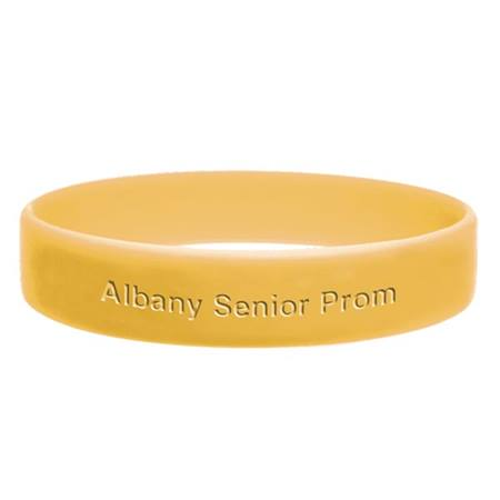 Yellow Engraved Silicone Wristband