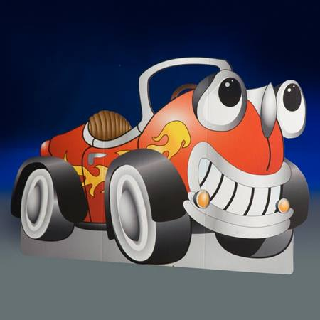 What a Character Red Cartoon Car Kit