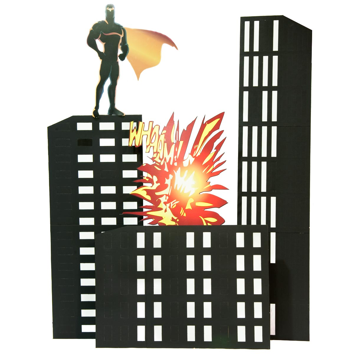 Downtown Defenders and Buildings Kit (set of 3)