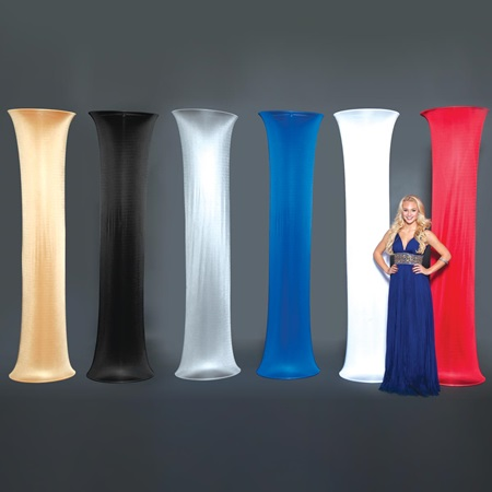 Satin Fabric Covered Column Anderson S