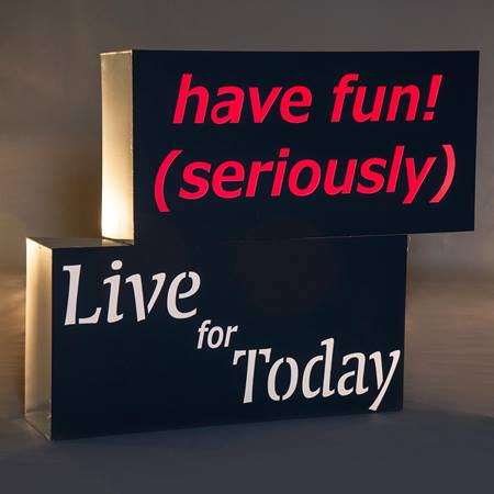 Have Fun, Seriously/Live For Today Blocks Theme Kit (set of 2)