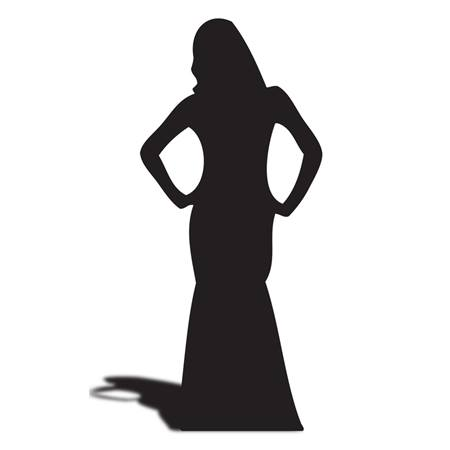 Dancing Lady w/ Hands on Hips Silhouette