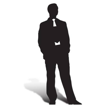 Sophisticated Man Cut Out Silhouette