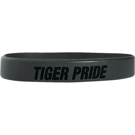 Laser Engraved Silicone Wristband – Tiger Pride