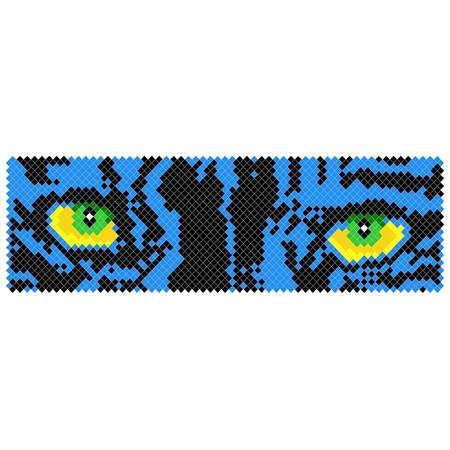 Put-in-Cups Fence Decorations, Panther Eyes