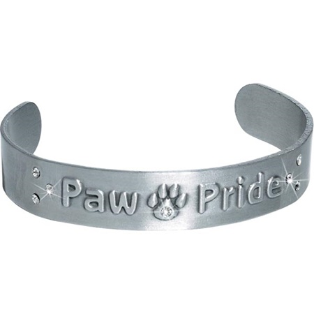 Metal Cuff Bracelet with Bling - Paw Pride