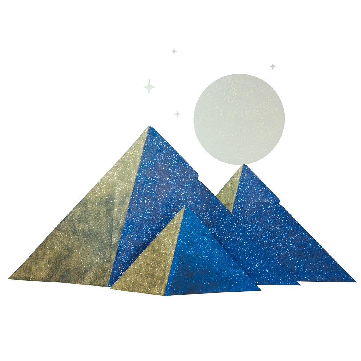 Gleaming Egyptian Pyramids, Moon and Stars Kit